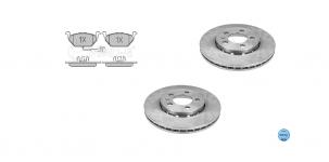 Přední kotouče a destičky POLO IV 1,4 16V