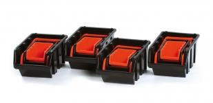 Samostatné boxy na spotřební materiál Orandžová ...