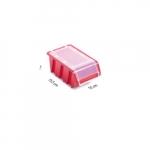 Box s krytem na spotřební materiál červený ...