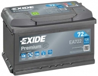 Štartovací batérie EXIDE 72Ah