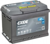 Štartovací batérie EXIDE 61Ah