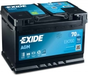 Startovací baterie EXIDE 70Ah ...